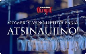 Duris atvėrė atsinaujinęs Olympic Casino Lietuva baras!