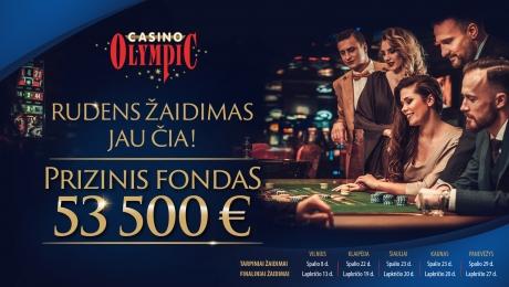 Rudens žaidimas jau čia! Prizinis fondas 53500 EUR.