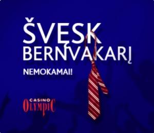 Švęsk bernvakarį NEMOKAMAI!